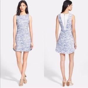 Alice + Olivia Gena Tweed Shift Cocktail Dress